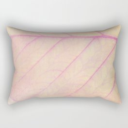 Pink Leaf Abstract Rectangular Pillow