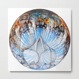Colored Sphere Metal Print
