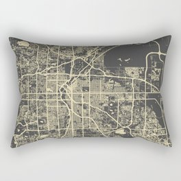 Denver map Rectangular Pillow