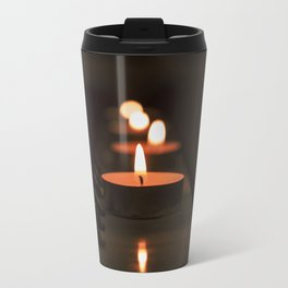 Candles on the piano Metal Travel Mug