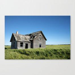 Old Grey Farm House Canvas Print