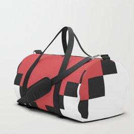 Red Pixel Love Heart Duffle Bag