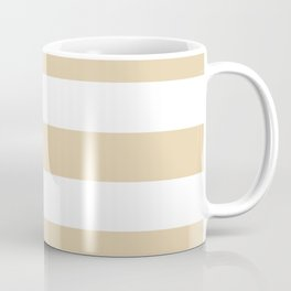Durian White - solid color - white stripes pattern Coffee Mug