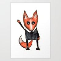 Boss Fox Art Print