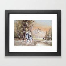 Being Followed Framed Art Print