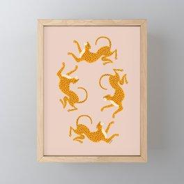 Leopard Race - pink Framed Mini Art Print
