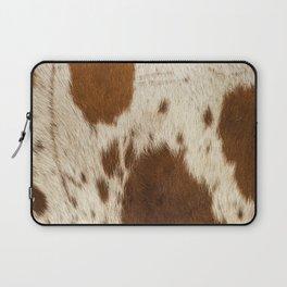 Pattern of a Longhorn bull cowhide. Laptop Sleeve