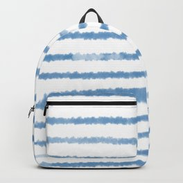 Watercolor stripes inspired by Hampton style Backpack