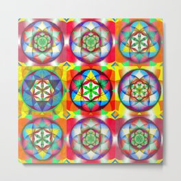 Three Six Nine - The Sacred Geometry Collection Metal Print