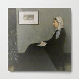 James Abbott Whistler - Whistler's Mother Metal Print
