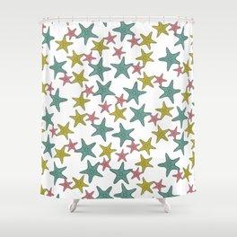starfish tropical print Shower Curtain