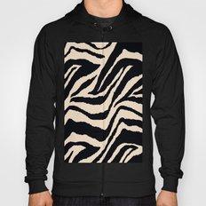 Zebra Animal Print Black and off White Pattern Hoody