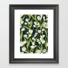 Water Hemlock Pattern Framed Art Print