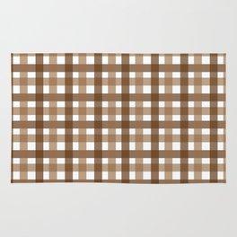 Brown Picnic Cloth Pattern Rug