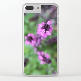 Pink Salvia Clear iPhone Case