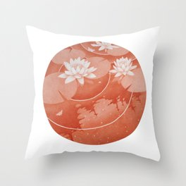 STEREOSCOPIC LILYPOND RIGHT Throw Pillow