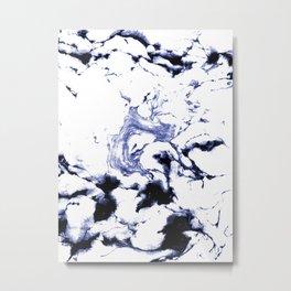 Suminagashi marble watercolor pattern art pisces water wave ocean minimal design Metal Print