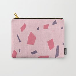 Millennial Pink Terrazzo Granite Abstract Pattern - Marble Speckles Carry-All Pouch