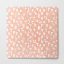Peach Cross Hatch Metal Print