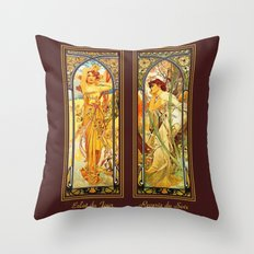 Vintage Art Nouveau - Alphonse Mucha Throw Pillow