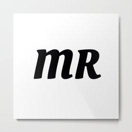 Mr in Black Metal Print