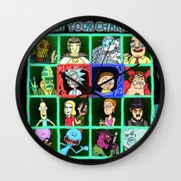 Rick Selects His Character Wall Clock