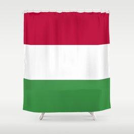 Hungary flag emblem Shower Curtain