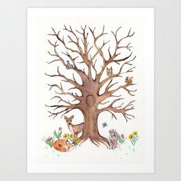 Fingerprint Tree Art Print