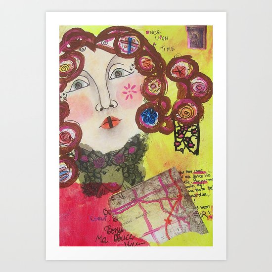 Curly Sue Art Print