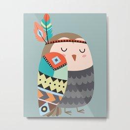 tribal bird Metal Print