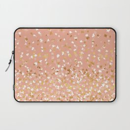 Floating Confetti - Peach and Gold Laptop Sleeve