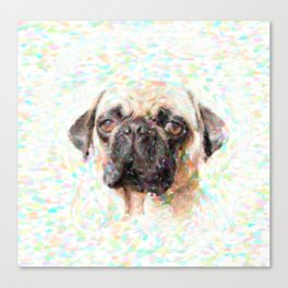 Pointillistic Pug Canvas Print