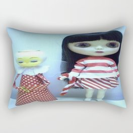 Candy cane blythe with angel Rectangular Pillow