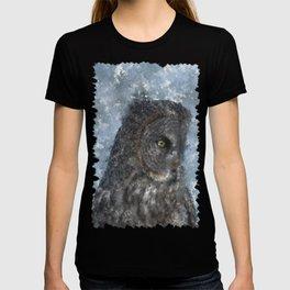 Contemplation - Great Grey Owl Portrait T-shirt