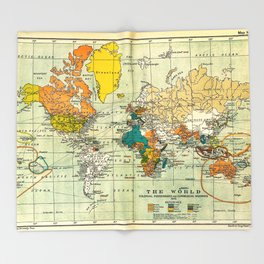 Map of the old world Throw Blanket