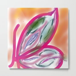 Fly and flowers Metal Print