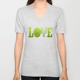 LOVE TENNIS Unisex V-Neck