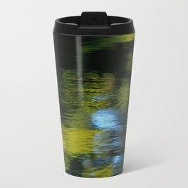 Reflection in Green Metal Travel Mug
