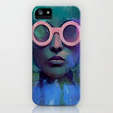 Pink Glasses girl iPhone (5, 5s) Slim Case