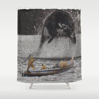 orca Shower Curtains featuring Orca by Lerson