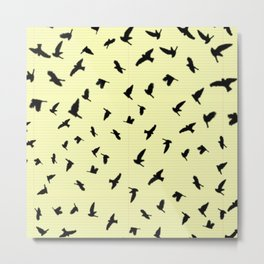 Flying Birds on a notebook Metal Print