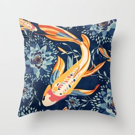 The Lotus Pond Throw Pillow