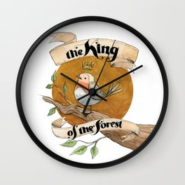 The King of the Forest Wall Clock