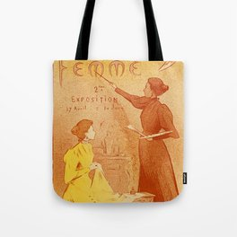 Art by women art nouveau ad drawing Tote Bag