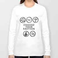 divergent Long Sleeve T-shirts featuring Divergent - Choose your faction by Lunil