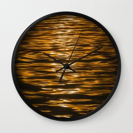 Sunset Ripples (Lake Balaton) Wall Clock