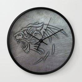 Bigcat Tribal on Metal Wall Clock