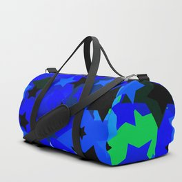 Punk Rock Stars Blue Duffle Bag