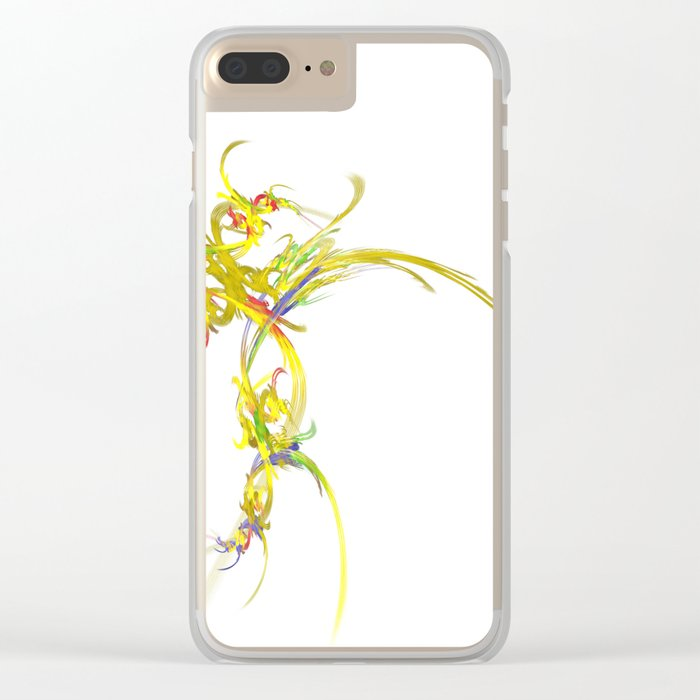 Spiritual Flower Clear iPhone Case