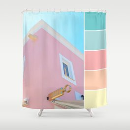 Bright And Happy On The Side Pastels Shower Curtain